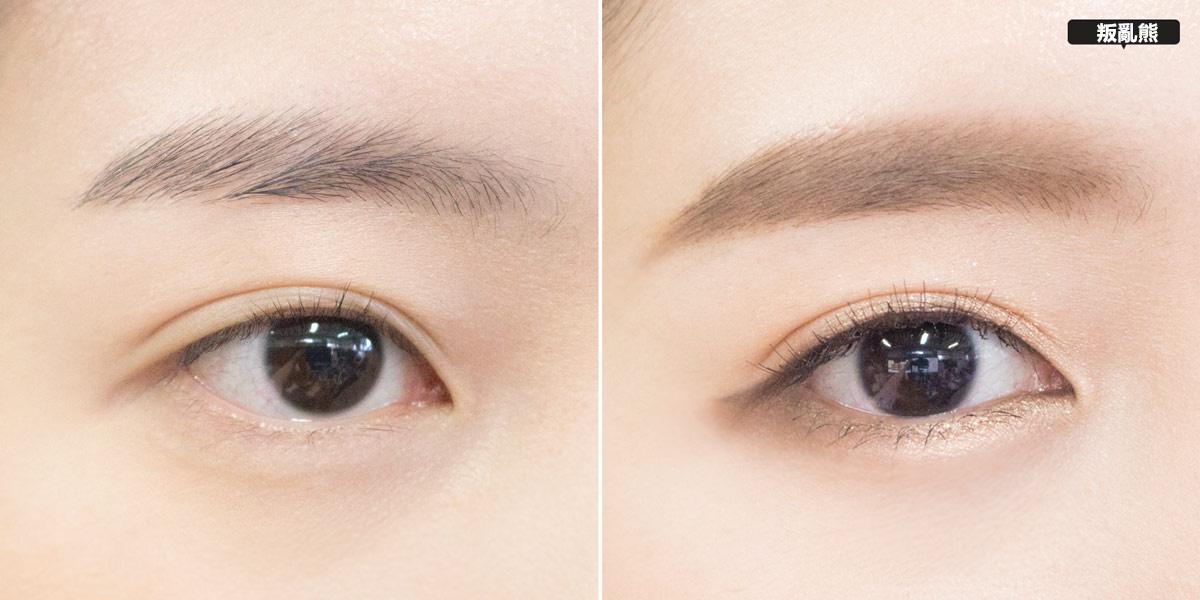 眼妝完成啦! 來比對一下Before & After,眼睛真的有水汪汪的感覺吧~