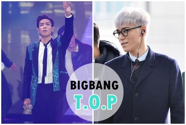 BIGBANG「탑」  不論是身高還是名氣都是高位的T.O.P,名字取的剛剛好!