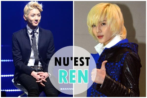 NU'EST「REN」  外表精緻的REN,短髮造型也是非常帥氣呢!