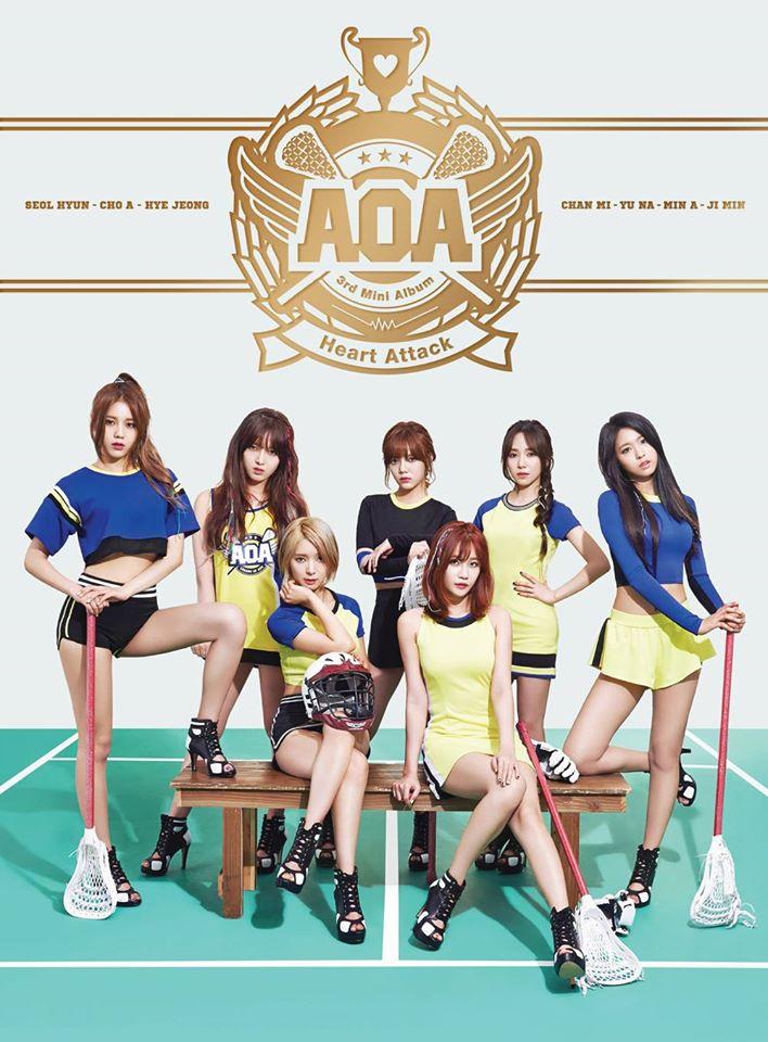 一線女團:AOA 從《Mini skirt》後慢慢抓到自己的路線,終於在去年夏日女團大戰中開出亮眼成績,再加上成員各自在綜藝、廣告上大有展獲,和APINK並列為韓國目前最紅的女團「雙A」之一