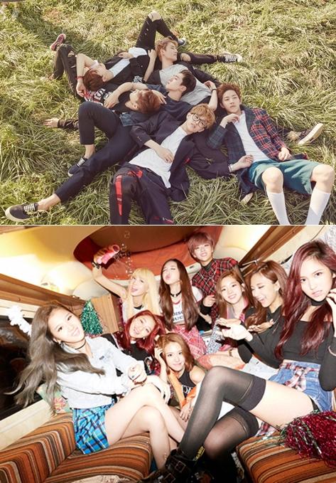JYP娛樂預定3月回歸的名單則有DAY6和TWICE,分別為三月初和三月底回歸,兩個團體都讓人好期待啊!特別是TWICE剛出道就受到很大的矚目,會以什麼模樣回歸真的太讓人好奇了~~