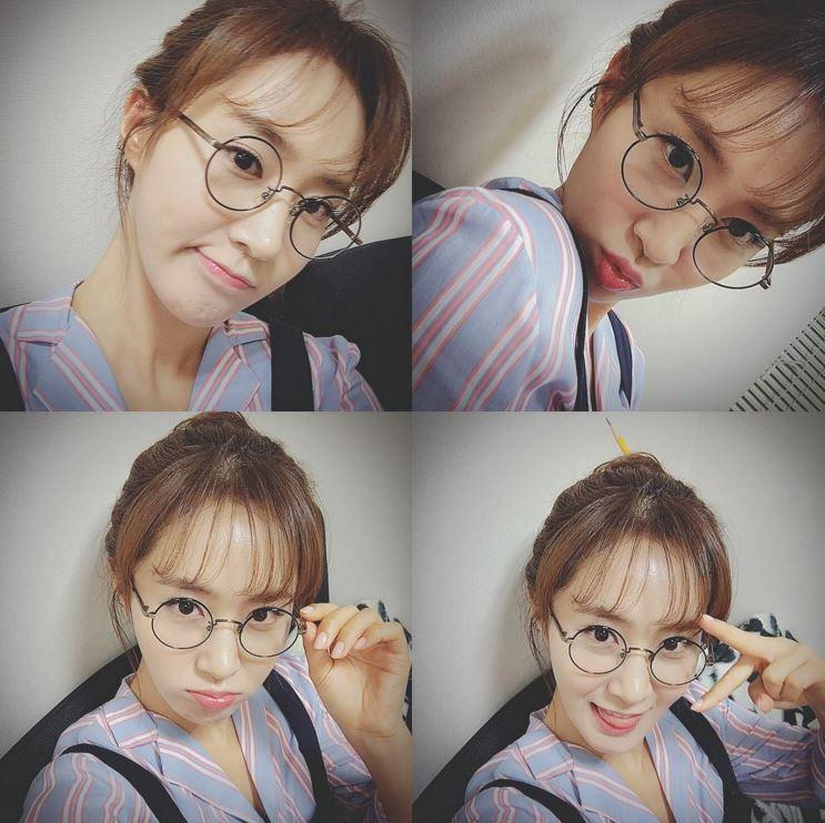 戴上圓圓眼鏡的Yuri是不是很可愛呢?ヽ(✿゚▽゚)ノ