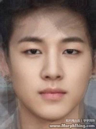 韓國網友經常將顏值超高的女星們,或者是某團體所有成員們的臉重疊在一起,來看他們的平均顏值~