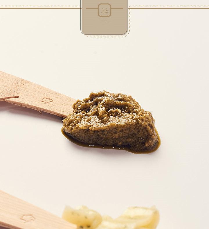 簡單來說就是攪碎的羅勒葉和橄欖油的組合~跟前幾個抹醬的質地都不太一樣
