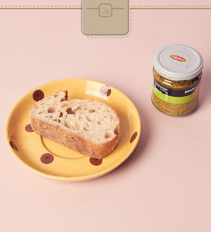 一樣建議選擇有嚼勁法國麵包~可以抹在表面上,或是一口一口沾取