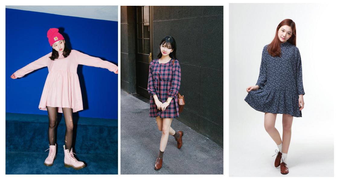 顏色方面~可以選今年最流行的顏色之一的玫瑰石英,搭配同色系的馬汀靴,帥氣的同時也不失少女味,格紋和碎花設計也很適合春天。