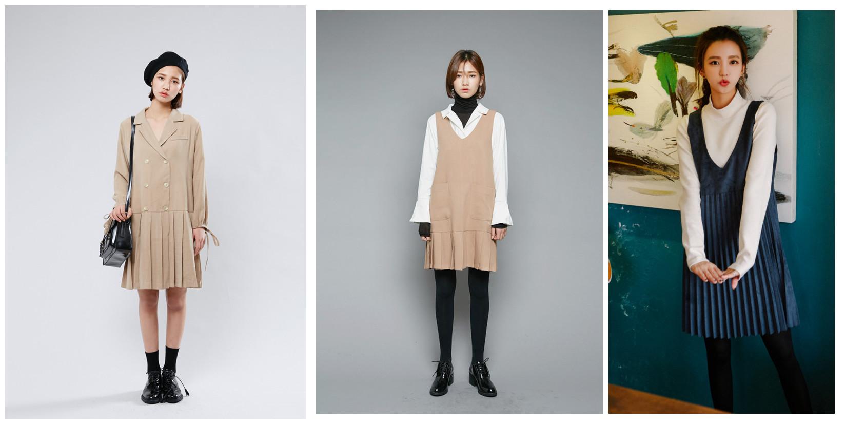 不止是半身裙,百褶設計還融入到了更多單品中,跟百褶裙最搭的就是牛津鞋了!