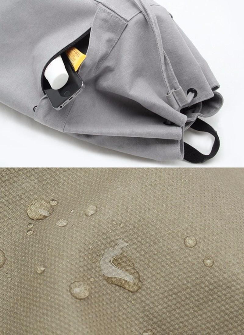 # 13吋筆記型電腦 # 防水帆布 # 束帶水桶包