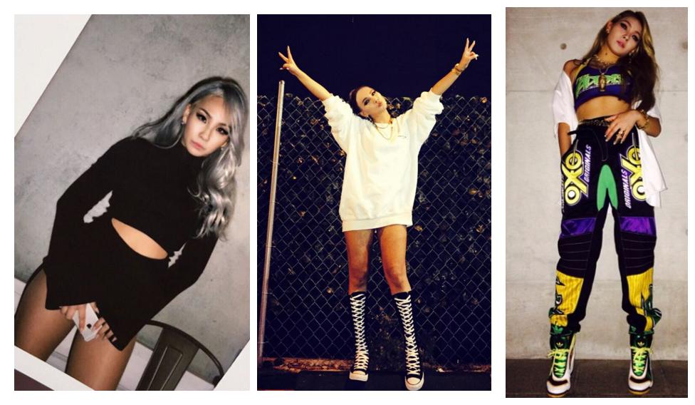 女王CL就連運動服都很帥氣啊!不管是全黑還是全白,或者大膽的拼色,都霸氣側漏啊!