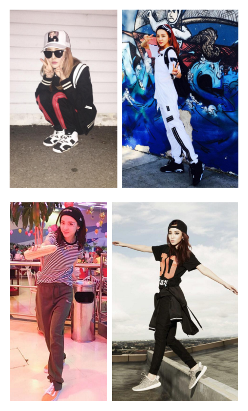 Dara的運動LOOK,很喜歡用運動髮帶或者棒球帽做裝飾,這種搭配除了運動之外,也很適合出街!
