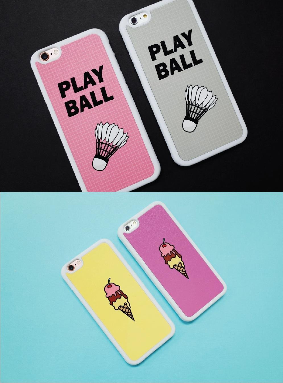 像是這款羽毛球與冰淇淋手機殼,就是網站上非常熱賣的款式!摩登少女自己是很想要購入羽毛球款啦