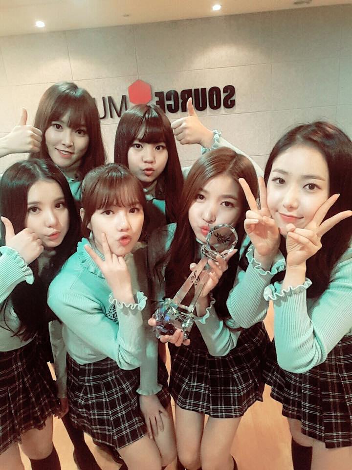 GFRIEND 在 KBS2《Music Bank》也是連續三週一位