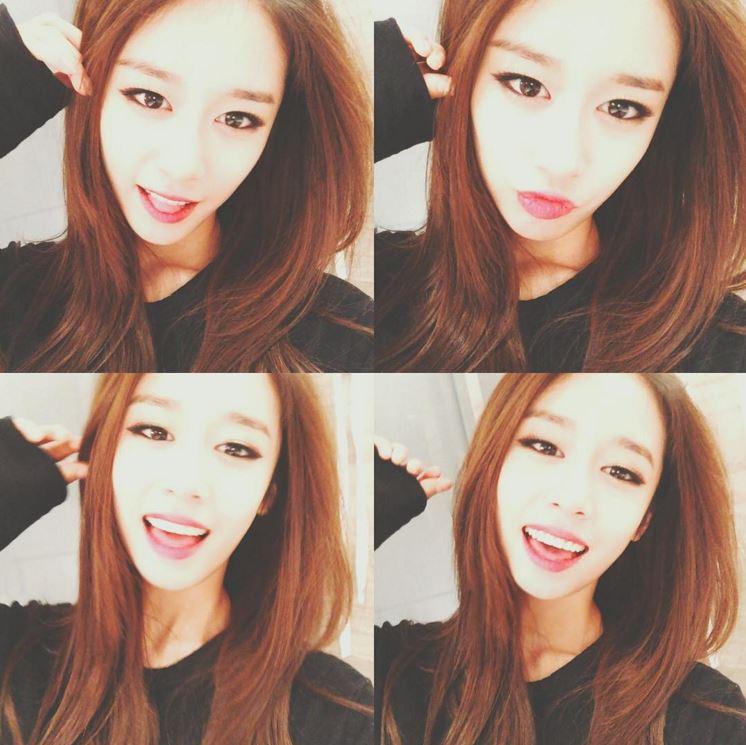 芝妍最具代表的就是她美麗的眼睛啦♥ 特有的眼妝也成為芝妍的代表~ 不過芝妍不時會在instagram上傳比較素的照片…