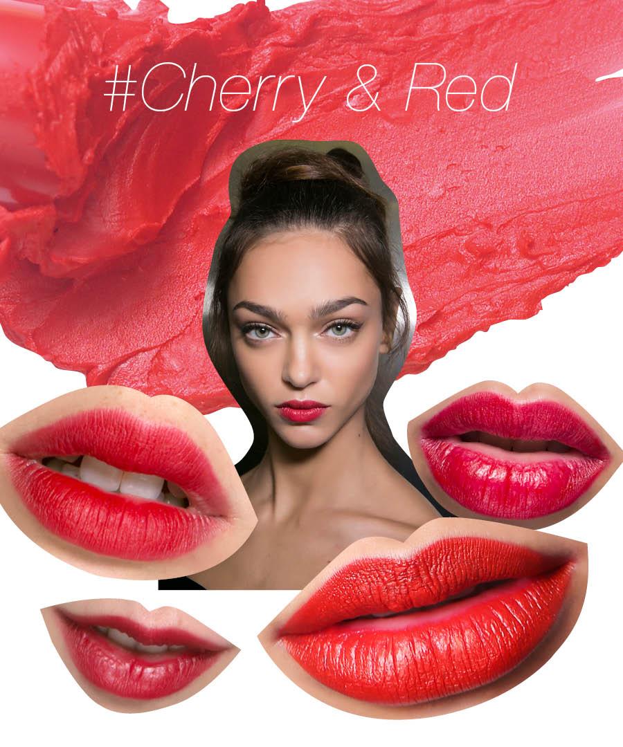 今春,請給你的唇塗成招人喜愛的櫻桃紅和大紅吧♥~