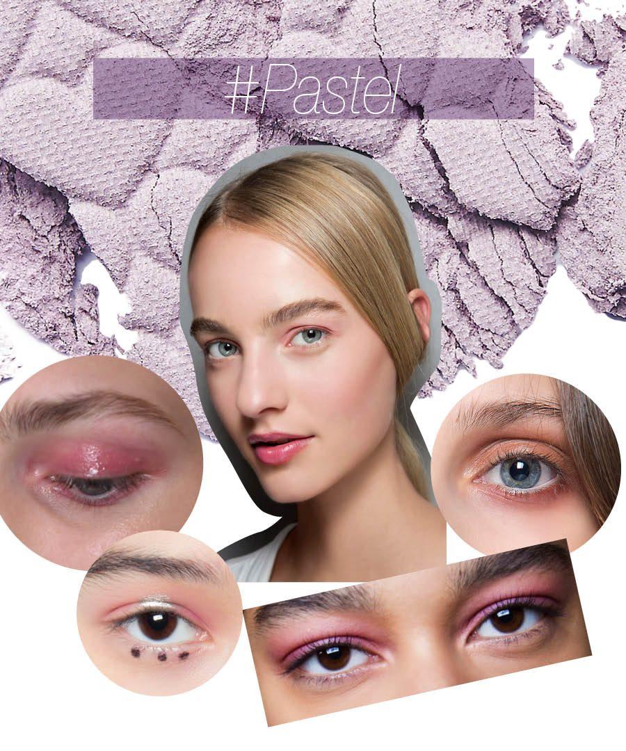 從Runway Makeup 的色彩中我們可以得到不少日常妝的靈感呢~活用粉紅、珊瑚色、淡紫等顏色,色彩雖紛繁複雜,但這樣的眼妝真的超具誘惑欸~