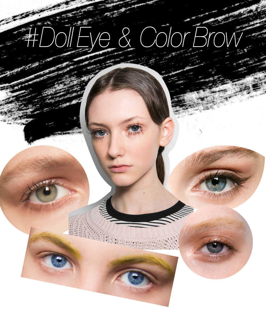 同時,最近畫眉毛時,選擇色彩比本人髮色量的顏色是趨勢!使用市面上可買到的彩色眉粉、眉毛膏等,使眉毛看起來像染色了一樣,讓你的眉妝更突出~