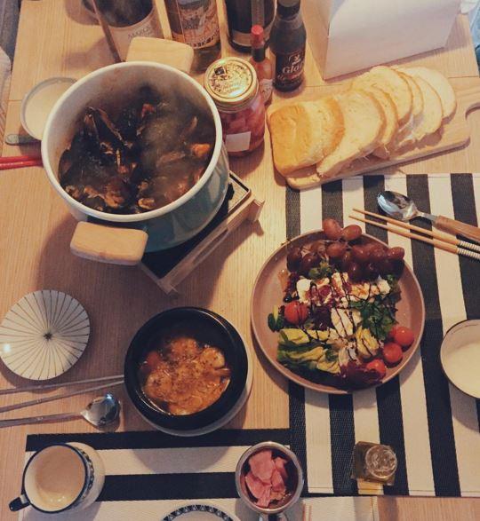 因為自己住的關係,時不時也會在家料理ㅋㅋ 看起來超厲害的吧~(♡˙︶˙♡)