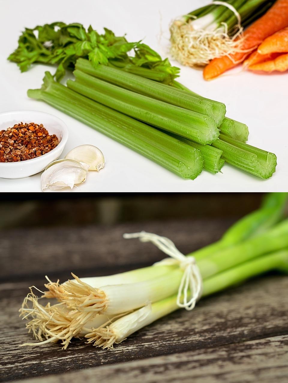 芹菜與蔥,這兩樣東西雖然不是人人喜愛,但的確有助眠的功能喔!