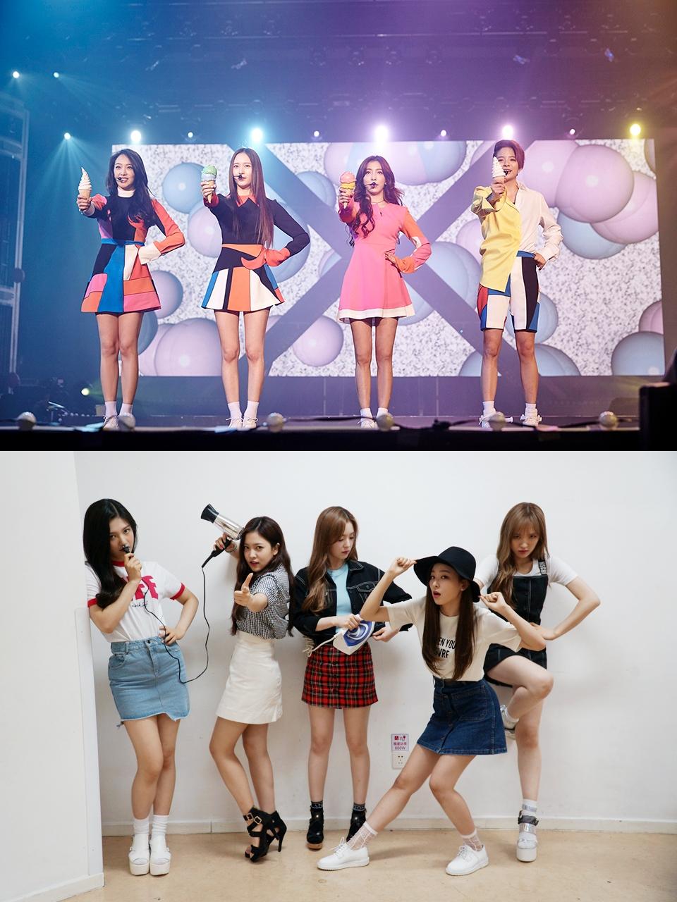 少時的師妹f(x)和Red Velvet也是喔~ Red Velvet的韓文是레드벨벳,f(x)則是에프엑스 是四個字沒錯吧!