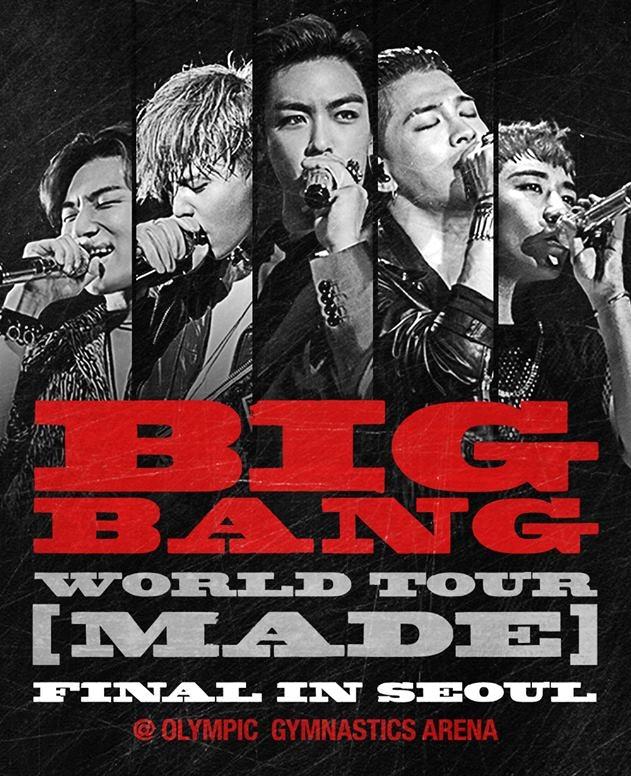 BIGBANG 這禮拜將在首爾舉辦《MADE》的最終場,一起期待《MADE》的完整專輯吧!