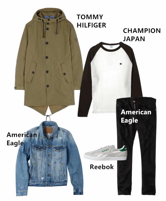 夏天單穿丹寧外套,秋冬則會再外搭一件軍外套~除了外套單品外,白仁浩也很常穿著丹寧破褲,整個超符合他的角色設定