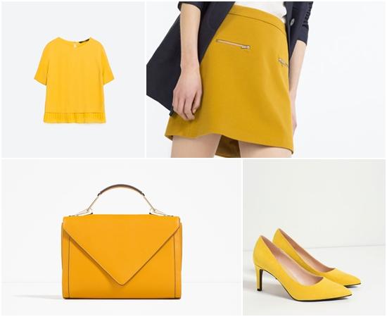 如果你不知道如何用黃色與其他更大膽的顏色作強烈搭配,建議從最簡單的下身、配件單品開始,與其色彩繽紛的配對,不如專注點綴這個顯目的顏色吧~