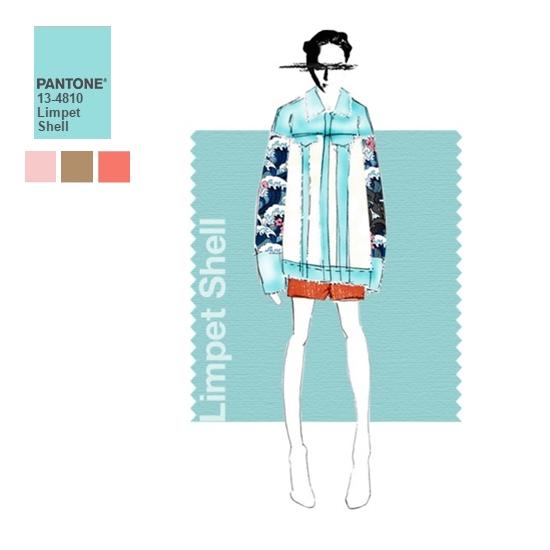 #6 貝殼藍 貝殼藍又比寧靜粉藍更清新、更迷幻一點,這個色彩非常適合夏天呢!