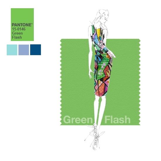#10 閃光綠 被譽為勇於挑戰、新穎的閃光綠色,果然是很強眼的色彩啊!這可不是一般人都可駕馭的~