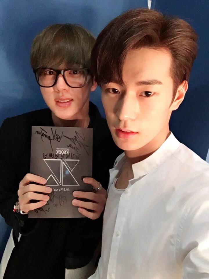 防彈少年團的 Jin 也有去 KNK 出道 Showcase,幫 Seung Jun 應援加油!