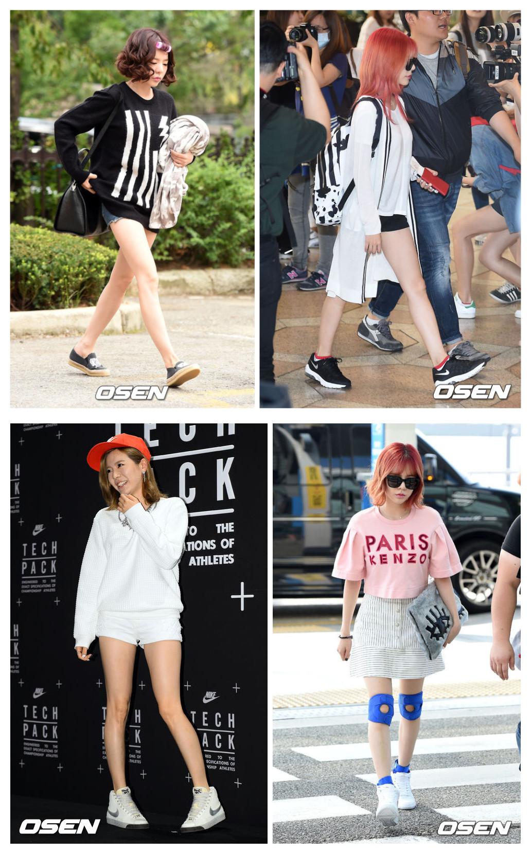 作為少時中最懶得打扮的成員,Sunny最喜歡的就是簡單的運動風,隨便抓起一件T和一條短褲,踩上運動鞋就可以出街了,而在眾多的運動鞋中,黑白兩色是Sunny私服中出鏡率最高的!