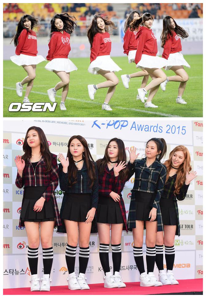 白運動鞋有多受韓妞歡迎,看看韓國兩大大勢女團GFRIEND和Red Velvet集體都在穿就知道了!兩團都是主打清純風,所以在穿搭上也都很相似,雖是清純,但白色的運動鞋+三條杠的運動襪,更是讓她們充滿了青春的活力。