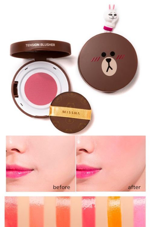 這次總共出了六種顏色~腮紅霜跟一般粉質腮紅最大的差別就是保濕度及上妝效果,擦起來會比較有光澤感之外,也更像從裡而外的自然氣色