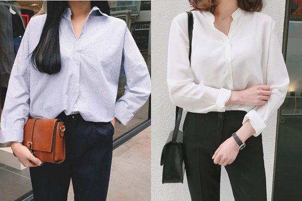 簡單的襯衫,不論是配上褲裝還是裙裝,甚至是長版襯衫,都非常吸引男生,摩登少女建議喜歡打造小清新風格的女孩,可以挑選素色襯衫或是格紋襯衫。如果想要製造出一點微微性感風的話,橫條紋襯衫、V領襯衫也是不錯的選擇喔!