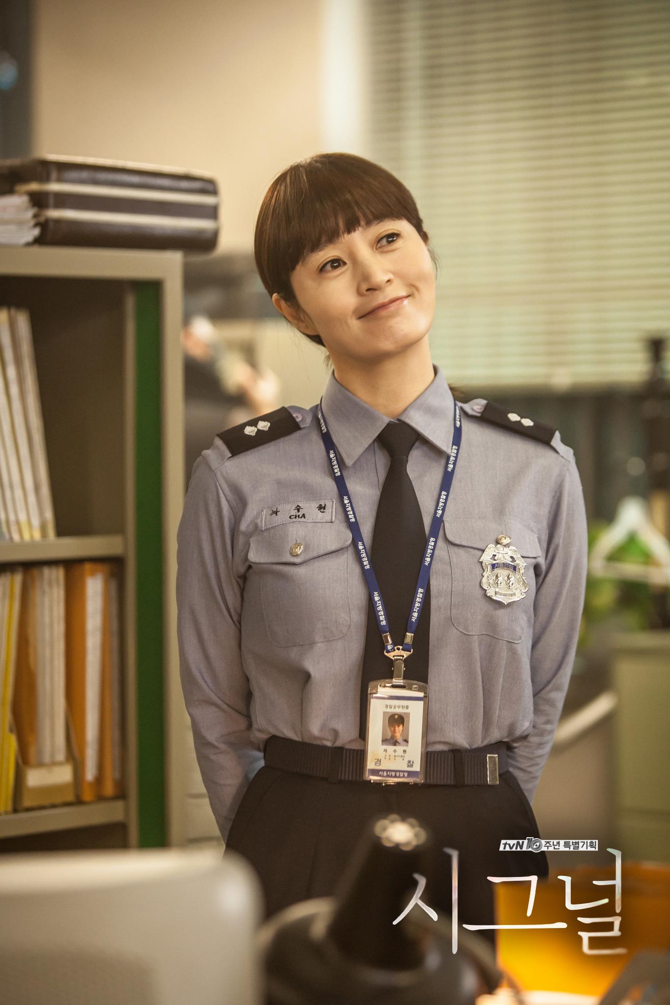 金惠秀在劇中飾演一位長期懸案專案組的刑警,雖然不是年輕演員,但金惠秀還是很美麗啊♥