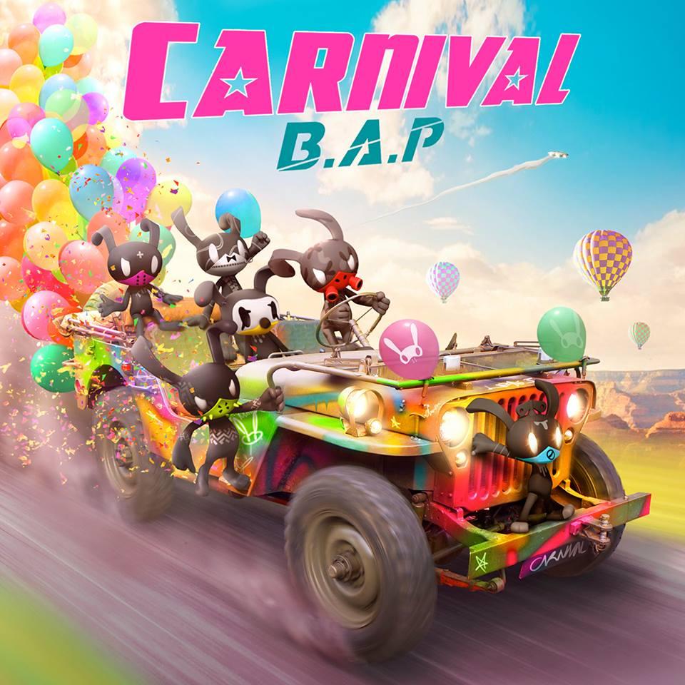 ✿ TOP 4 :: B.A.P《CARNIVAL》  2016年2月22日發行的第五張迷你專輯《CARNIVAL》,不同於以往帥氣的風格,這次走 pink pink 風,不僅讓歌迷大喊「歷代最可愛」,也有獲得音樂節目一位的肯定。