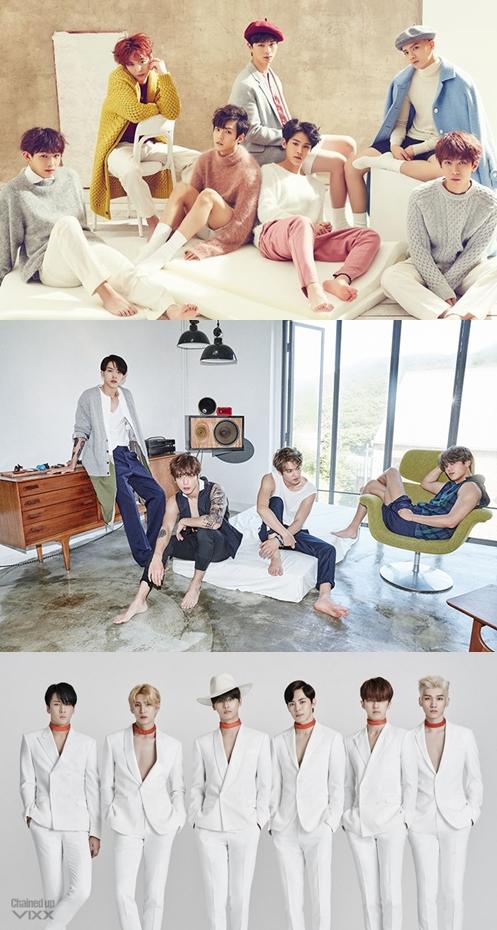 CUBE娛樂旗下的男團BTOB也預計在3月底回歸,FNC娛樂則派出CNBLUE在4月初迎戰,Jellyfish娛樂旗下的VIXX則確定在4月19日正式回歸!