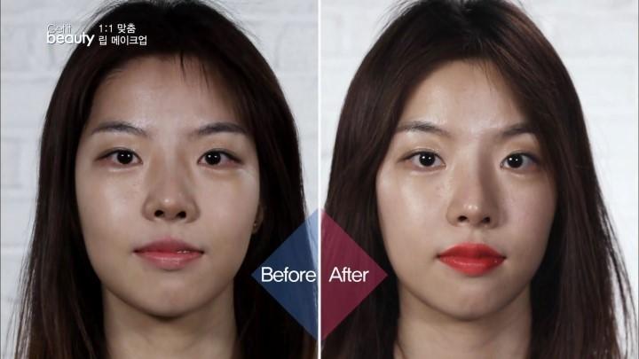 比較起來,唇型是不是更鮮明了呢?