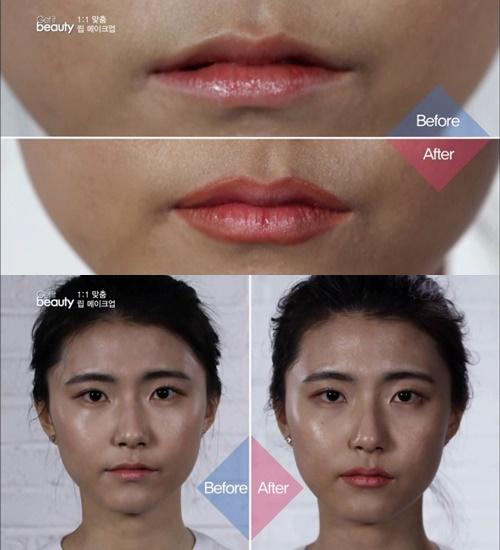 雖然沒辦法有很誇張的豐唇效果,但是遠遠的也能看出嘴唇明顯的更豐厚了吧~