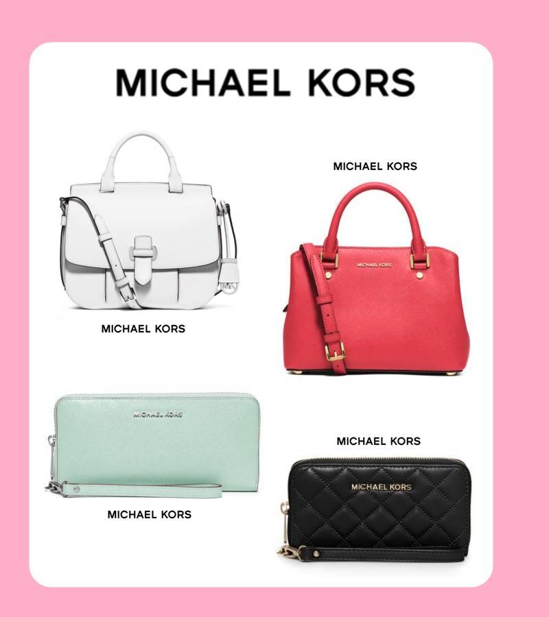 MICHAEL KORS MICHAEL KORS的設計比較偏女孩系列,包包的設計更是許多少女愛不釋手的單品喔~如果本身喜歡成熟,或者是溫柔感比較重的女孩,MICHAEL KORS這個牌子摩登少女覺得一定很適合你!