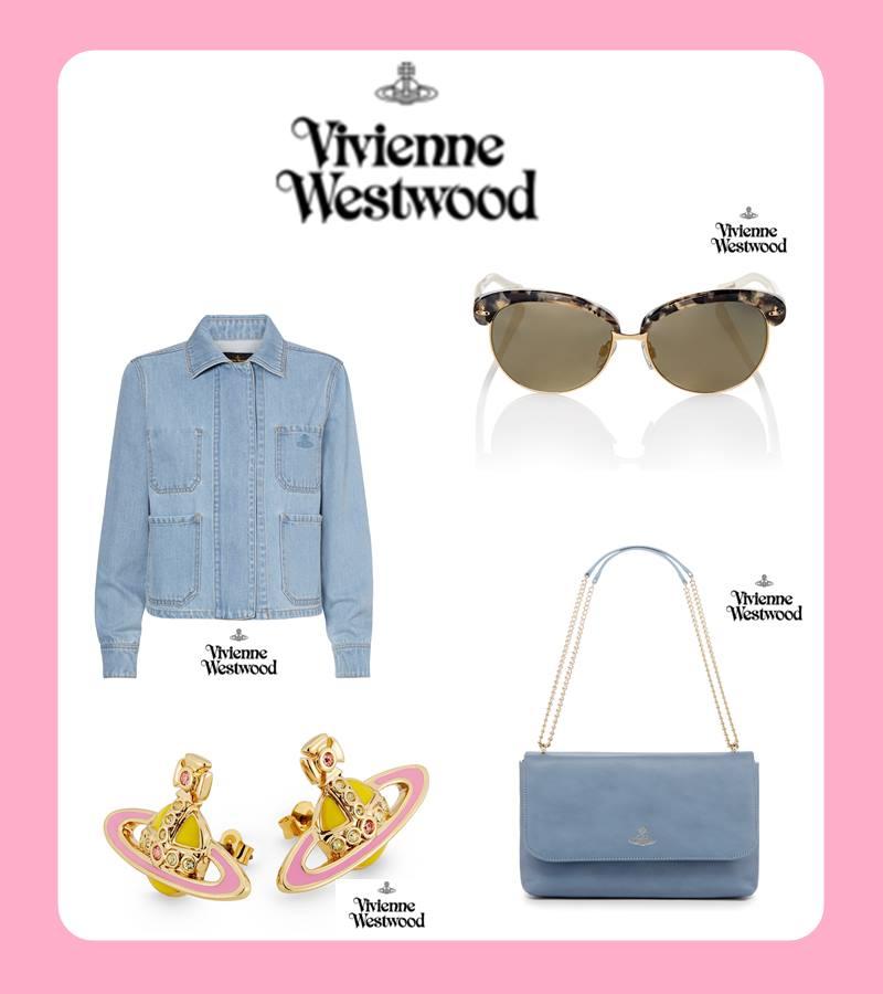 Vivienne Westwood 如果喜歡多一點色彩、個性感比較強烈的單品,那麼摩登少女會推薦你Vivienne Westwood的單品~