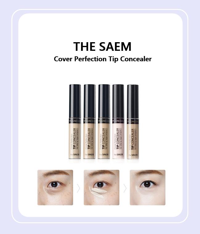 THE SAEM 的產品通常都是環保、高質感的成分,這款遮瑕液在黑眼圈遮瑕上除了夠力,還有校色的效果喔