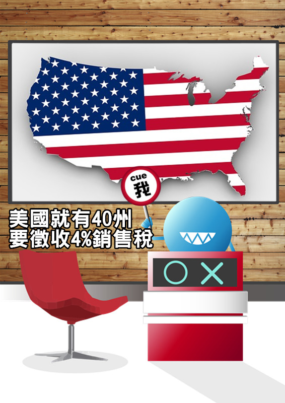 40州依規定不同而收取4-9%稅金,全美只有馬里蘭、紐澤西、明尼蘇達、麻州、賓州等10州沒有課稅。