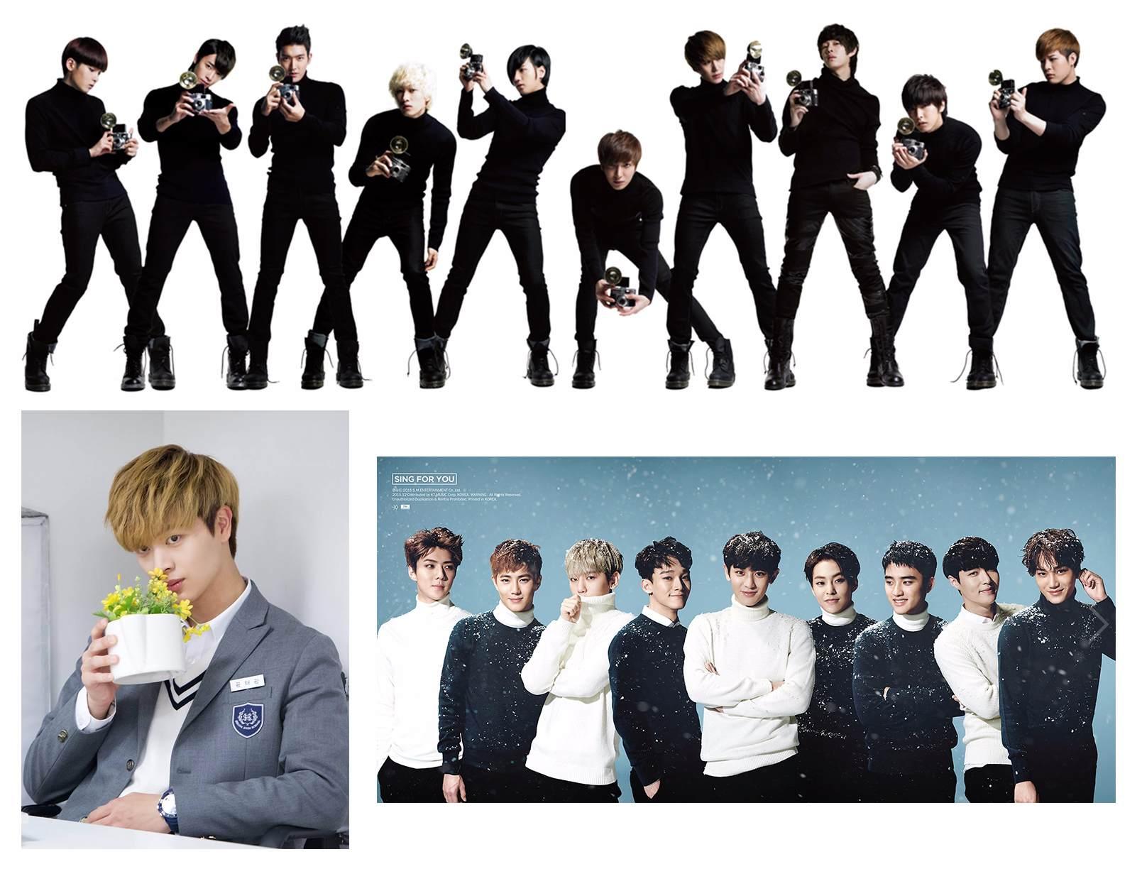 房間牆壁上有Super Junior、EXO和陸星材個人的海報♥ (因為版權關係,小編按照預告中擺設順序拼圖給大家看哦~)