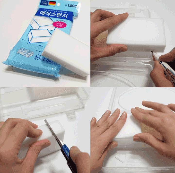 科技海綿(魔術擦)主要只是用來檢查有沒有清乾淨,所以其實也可以用紙巾代替啦~