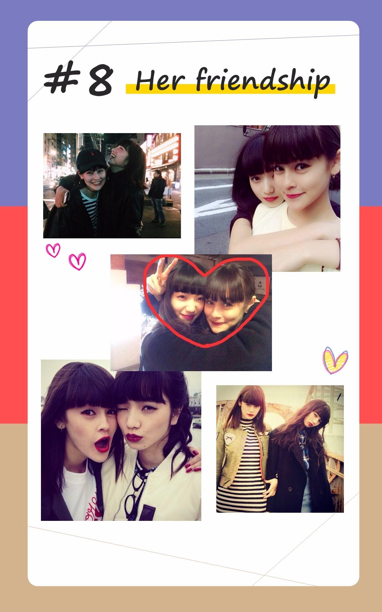 小松菜奈常常在IG上分享與近藤Emma的可愛照片,像姊妹一樣的一對好友CP,非常令人羨慕~