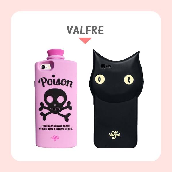 美國的VALFRE出了很多這種特殊設計的手機殼,也是很多歐美部落客及明星們很喜歡的品牌