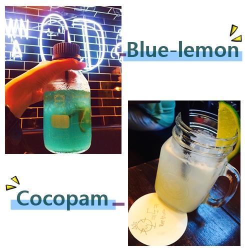 過沒多久飲料就先上來了,還沒喝前先拍張照片吧 漂亮的顏色看起來好像還不錯喝 !
