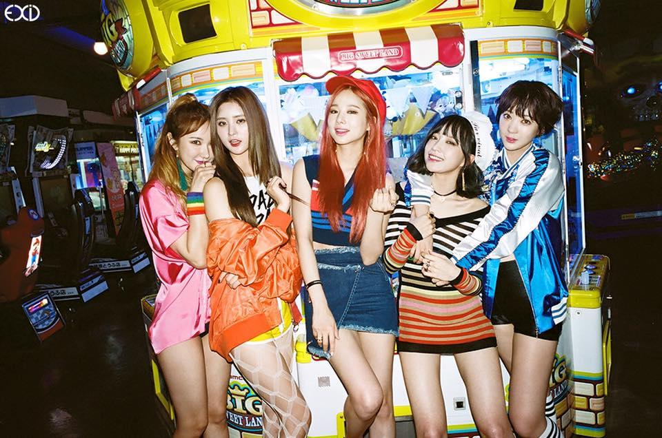EXID -6月1日 讓韓國歌迷期待的 EXID也將在6月的第一天回歸,從的音源逆行到空降音源冠軍,EXID無疑證明自己的能力。但這次回歸想必也對她們很有負擔,因為幾乎所有網友都害怕聽到「第4季的 UP&DOWN」,要如何兼顧市場及開創新曲風成為她們回歸的難題