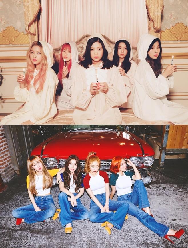 ★TOP2 Red Velvet、MAMAMOO(共同第二名) 得票率:39.9% 投票人數:176名