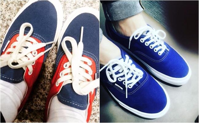 但兩人也曾相傳過一樣的鞋款(左泫雅右Ravi),也被認為是兩人的情侶鞋